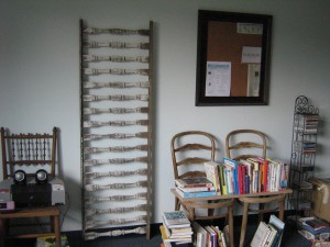 Books on self-help, how-to, relationships and business are included in the library, as well as music cds and a printer for folks to use with their own laptops.