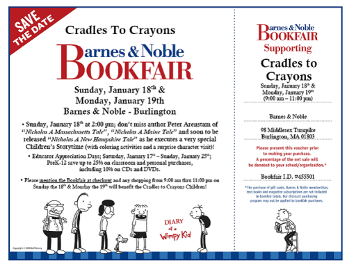 Barnes & Noble and Cradles to Crayons Book Fair to Celebrate Educator Appreciation Week