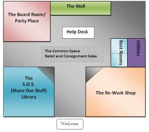 Here's the graphic of the space I envision... Next I'll share some pics that illustrate my ideas for each space.