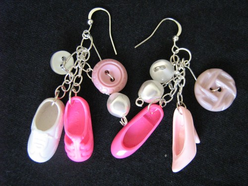 Take a few leftover Barbie shoes and add some vintage buttons and you are making an eco-statement that goes beyond fashion!
